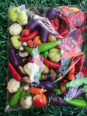 Искусственные овощи.Набор искусственных овощей (мини), фото 2
