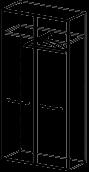 Шкаф для одежды Альянс 21\127  (900х400х1816)