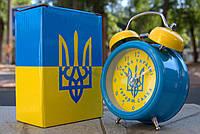 "Будильник, часы ""Слава Украине"" синий, фото 1"