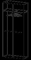 Шкаф для одежды Альянс 21\156  (900х400х2176)