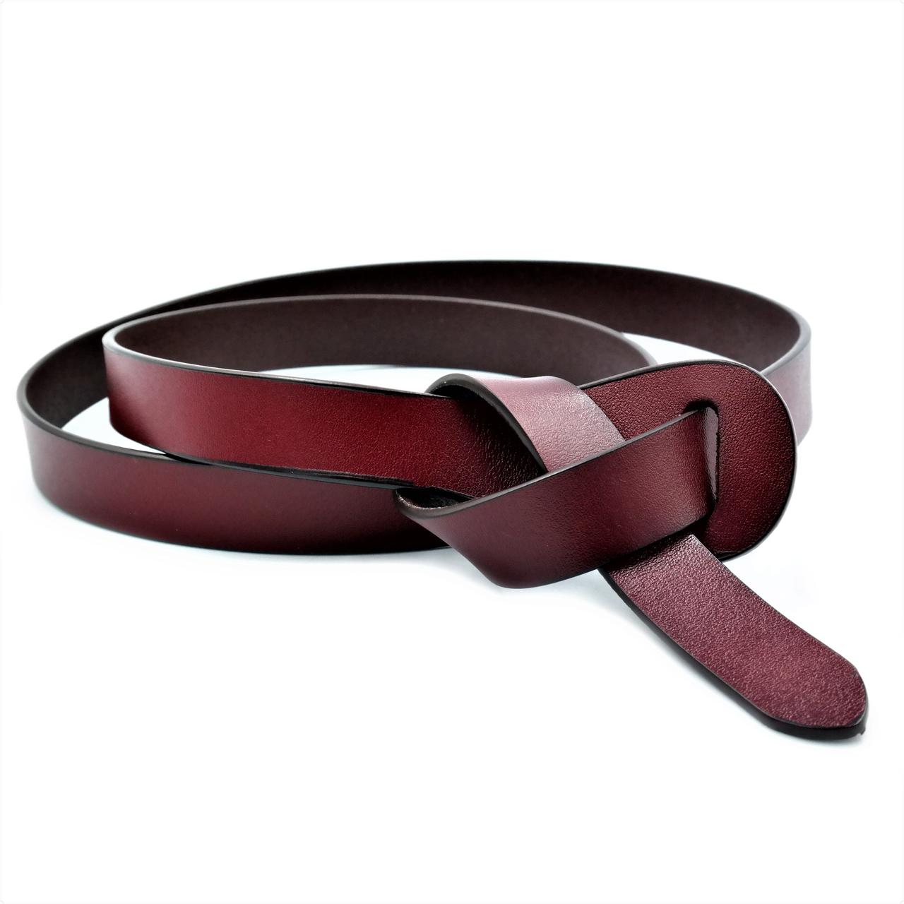 Ремень женский кожаный 100-110 см Марсала (nw-2k-0006)