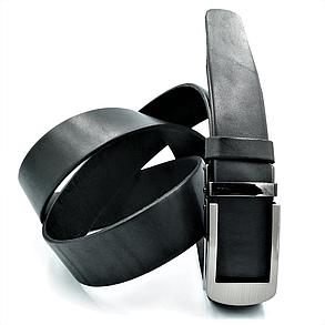 Мужской кожаный ремень-автомат Le-Mon 110-125 см Черный (newm-35avk-0001), фото 2