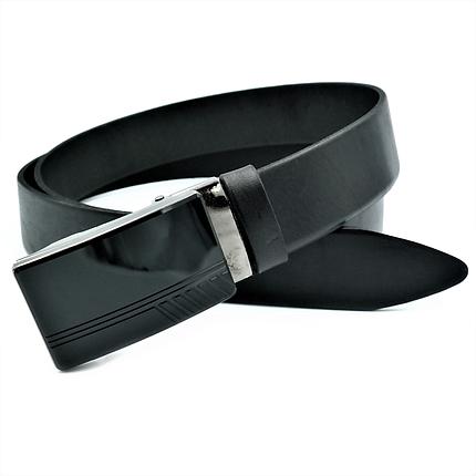 Мужской кожаный ремень Le-Mon 110-125 см Черный (nwm-35zjk-0006), фото 2