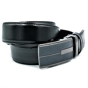 Мужской кожаный ремень-автомат Le-Mon 110-125 см Черный (newm-35avk-0010), фото 2