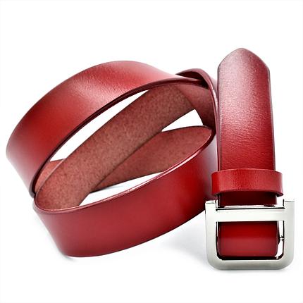 Жіночий шкіряний ремінь Le-Mon 110-115 см Червоний (nwzh-30k-0052), фото 2