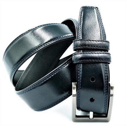 Мужской кожаный ремень Le-Mon 110-125 см Темно-синий (newm-4k-0001), фото 2