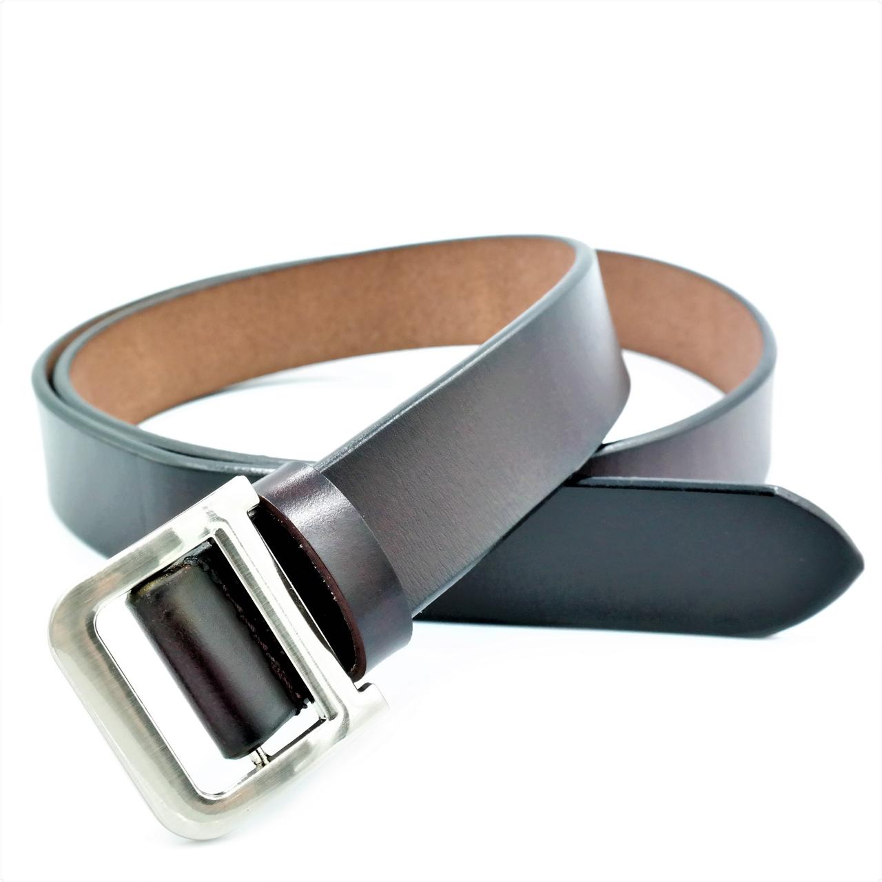 Женский кожаный ремень Le-Mon 110-115 см Тёмно-коричневый (nwzh-30k-0054)