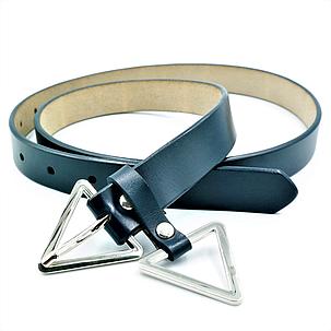 Женский кожаный ремень Le-Mon 110-115 см Тёмно-синий (nwzh-25k-0030), фото 2