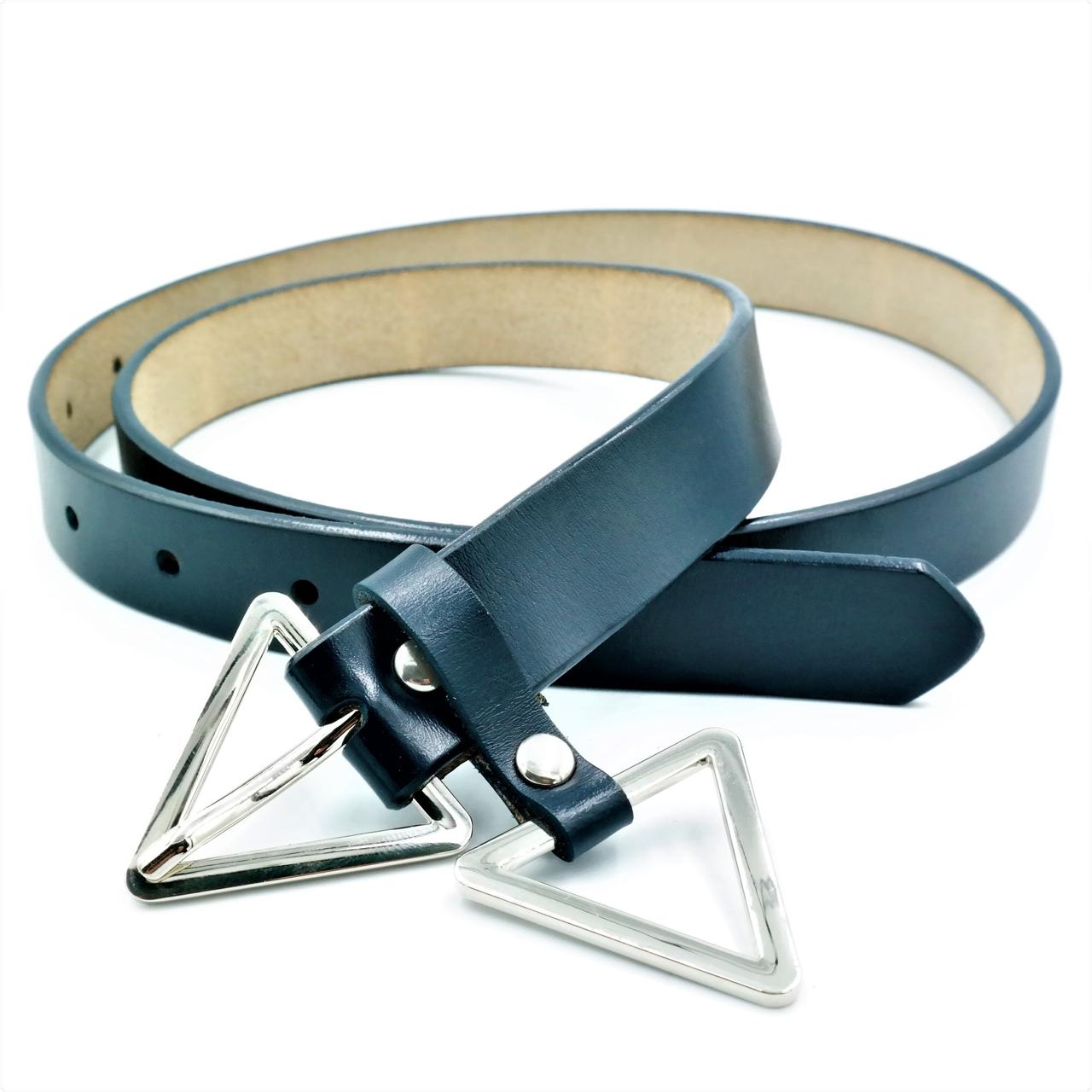 Женский кожаный ремень Le-Mon 110-115 см Тёмно-синий (nwzh-25k-0030)