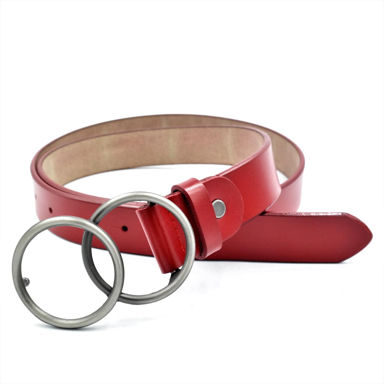 Женский кожаный ремень Le-Mon 110-115 см Красный (nwzh-30k-0061)