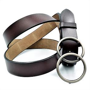 Женский кожаный ремень Le-Mon 110-115 см Тёмно-коричневый (nwzh-30k-0056), фото 2