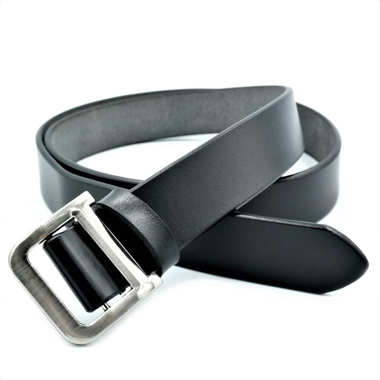 Женский кожаный ремень Le-Mon 110-115 см Чёрный (nwzh-30k-0053)