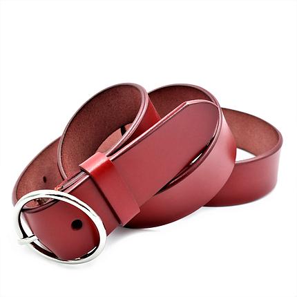 Жіночий шкіряний ремінь Le-Mon 110-115 см Червоний (nwzh-35k-0083), фото 2
