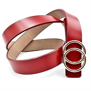 Женский кожаный ремень Le-Mon 110-115 см Красный (nwzh-30k-0060), фото 2