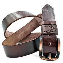 Мужской кожаный ремень Le-Mon 110-125 см Коричневый (new-m-40k-003), фото 3