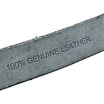 Чоловічий шкіряний ремінь Le-Mon 110-125 см Чорний (new-m-40k-008), фото 2
