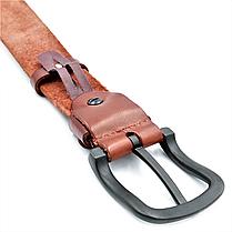 Мужской кожаный ремень Le-Mon 110-125 см Коричневый (new-m-40k-004), фото 2