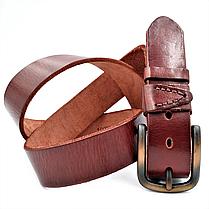 Мужской кожаный ремень Le-Mon 110-125 см Коричневый (new-m-40k-004), фото 3