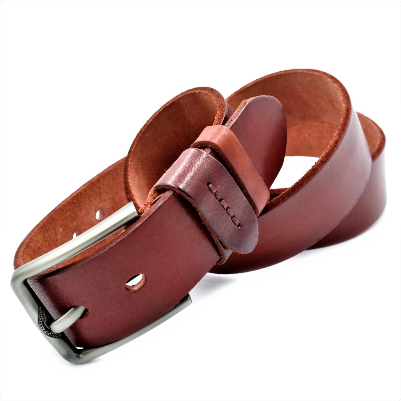 Мужской кожаный ремень Le-Mon 110-125 см Коричневый (new-m-40k-005)