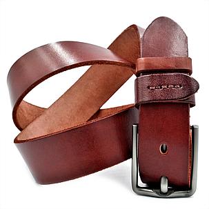 Мужской кожаный ремень Le-Mon 110-125 см Коричневый (new-m-40k-005), фото 2