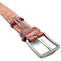 Мужской кожаный ремень Le-Mon 110-125 см Коричневый (new-m-40k-005), фото 3