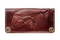 Кожаный кошелек Iguana Brown