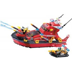 Конструктор BRICK 906 Пожарный катер, 340 деталей