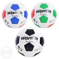 Мяч футбольный WORLD SOCCER WAR-5 , размер 5, ПВХ, 3 цвета, 300-320гр + (Арт. MMT-EV3187)
