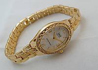 Часы  женские Q@Q  овальные, gold