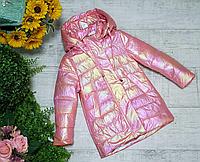 Детские куртки для девочек модные весна осень размеры 104-128