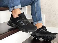 Мужские кроссовки Adidas Marathon TR (Адидас Марафон ТР), черные, код SD-9008
