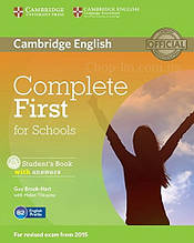 Complete First for Schools Student's Book with answers and CD-ROM / Учебник с ответами