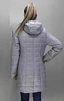 Удобная демисезонная женская удлинённая  куртка в 9-ти цветах  больших размеров с 48 по 74 размер, фото 3