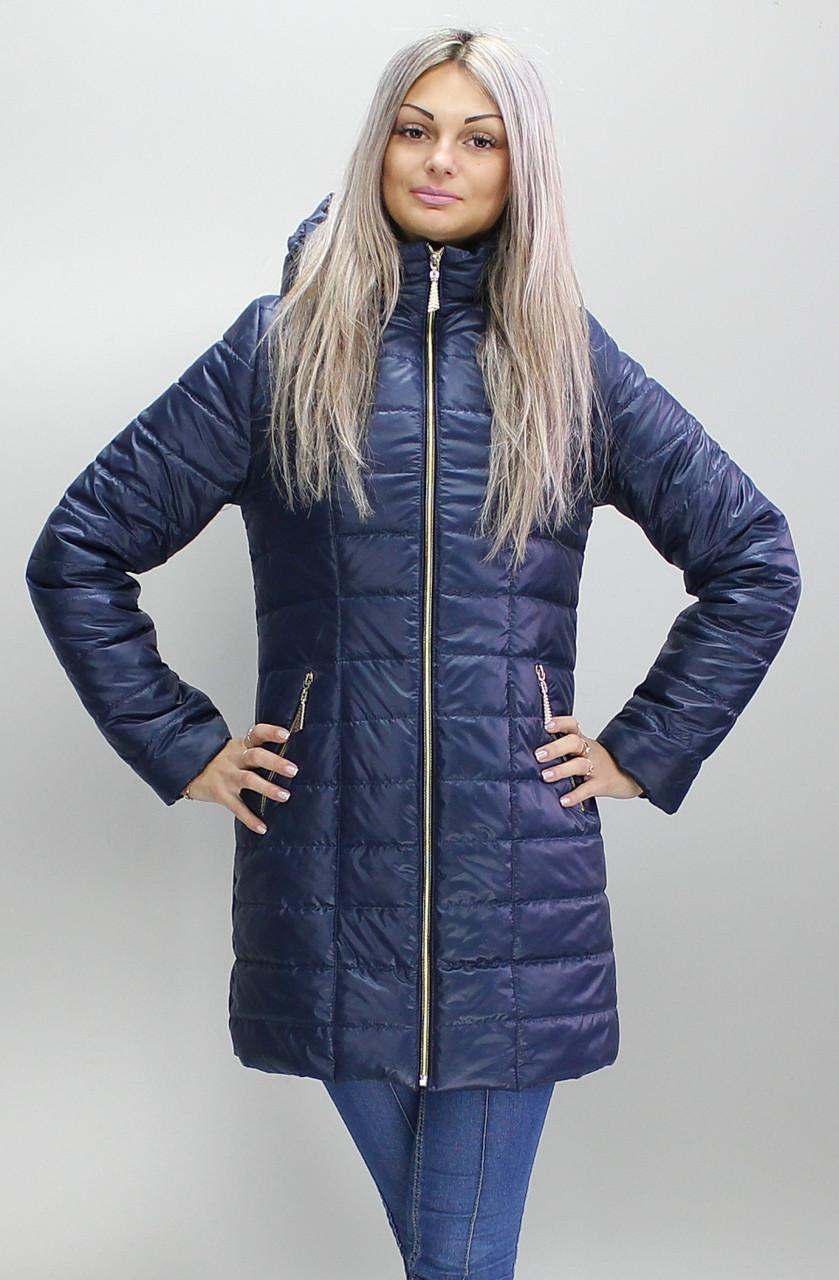 Удобная демисезонная женская удлинённая  куртка в 9-ти цветах  больших размеров с 48 по 74 размер