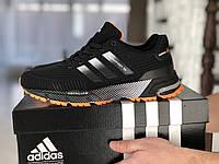 Кроссовки мужские Adidas Marathon TR,сетка,черные с оранжевым 44,5