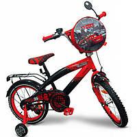"Детский велосипед Disney 16"" Disney Сars со звонком и зеркалом (C1601)"