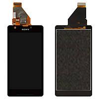 Дисплейный модуль (дисплей + сенсор) для Sony Xperia ZR C5502 / C5503 M36, черный, оригинал