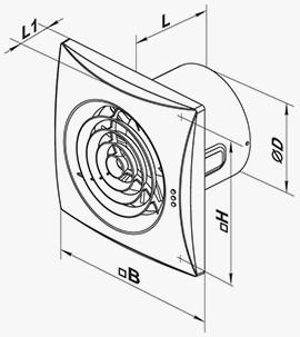 Вентилятор Вентс 150 Квайт ТН