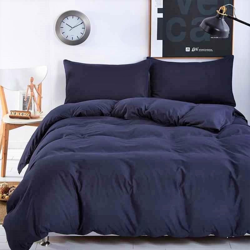 Постільна білизна ранфорс DeLux Темний синій ТМ Moonlight Двоспальний