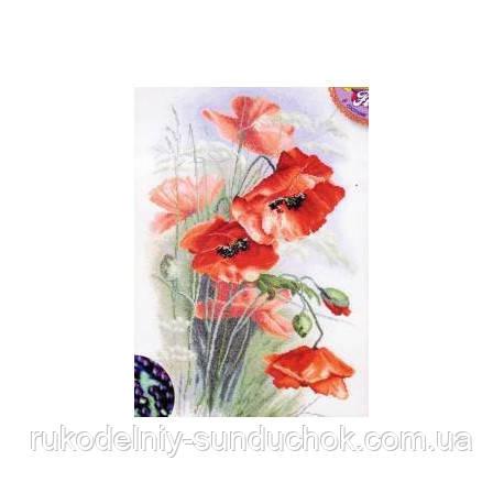 Набір для вишивання хрестом ТМ Мар'я Майстриня 06.002.01 Червоні маки