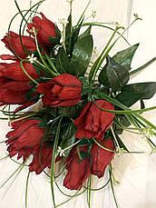Искусственные розы с осокой., фото 3