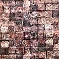 Декоративная 3Д-панель стеновая Кирпич Брусы (под дерево геометрия самоклеющиеся 3d панели) 700x770x5 мм, фото 1