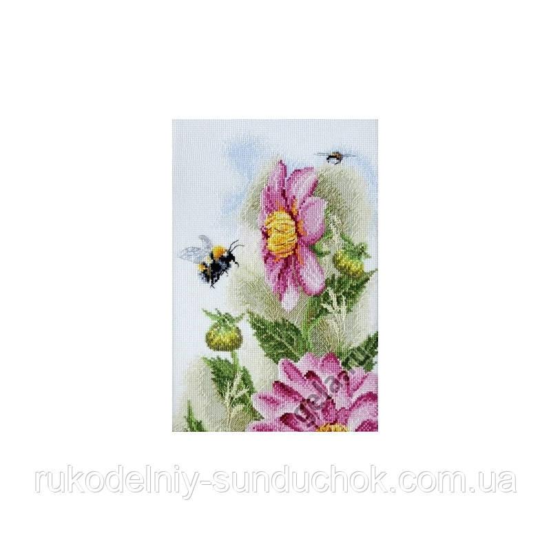 Набор для вышивания крестом ТМ Марья Искусница 04.006.04 Пурпурная георгина