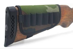 Чехол на приклад на 6 патронов камуфляж на поролоне цвет 1 5086