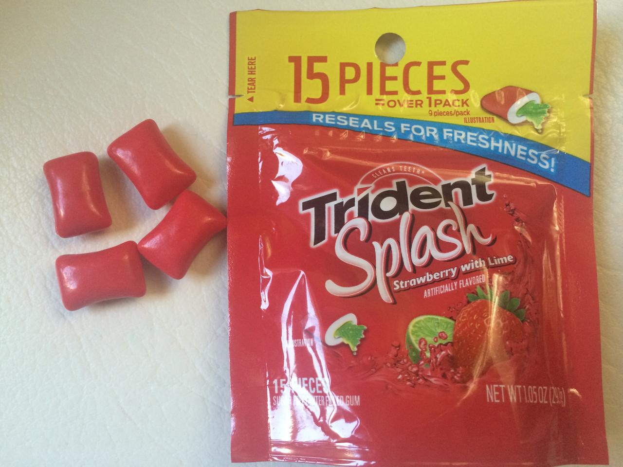Лучшая жуйка Trident Splash клубника с лаймом