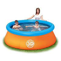 Наливной бассейн семейный Bestway (+  2 пары очков 3D) код 57244