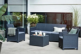 Комплект садовой мебели Allibert Emma 3 Seater Sofa Set Smooth Arms With Storage Table, фото 4