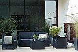 Комплект садовой мебели Allibert Emma 3 Seater Sofa Set Smooth Arms With Storage Table, фото 5