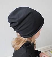 Детская шапка бини. Черный. Размеры: 42-44, 44-46, 46-48, 48-50, 50-52см