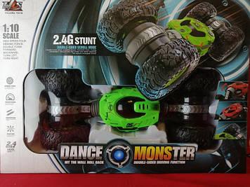 Машинка перевертыш трансформер вездеход  Dance Monster (Green)